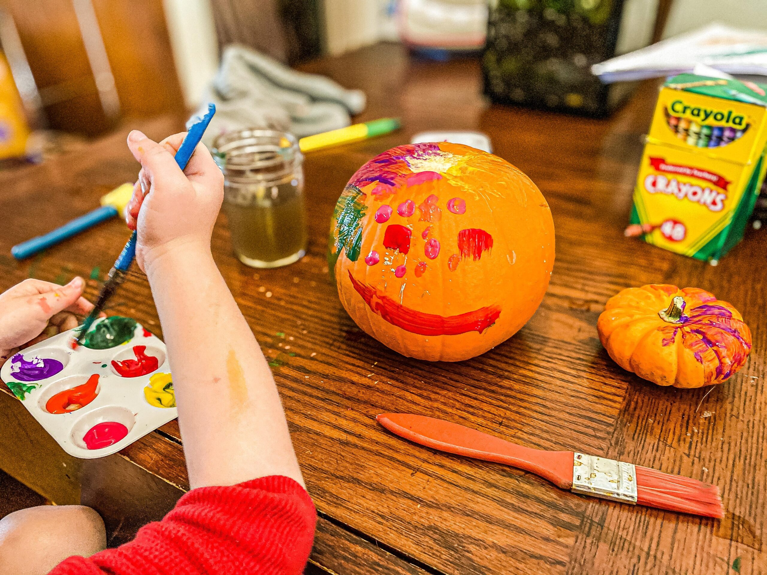 Painting Pumpkins Art Activity for Toddlers & Preschoolers