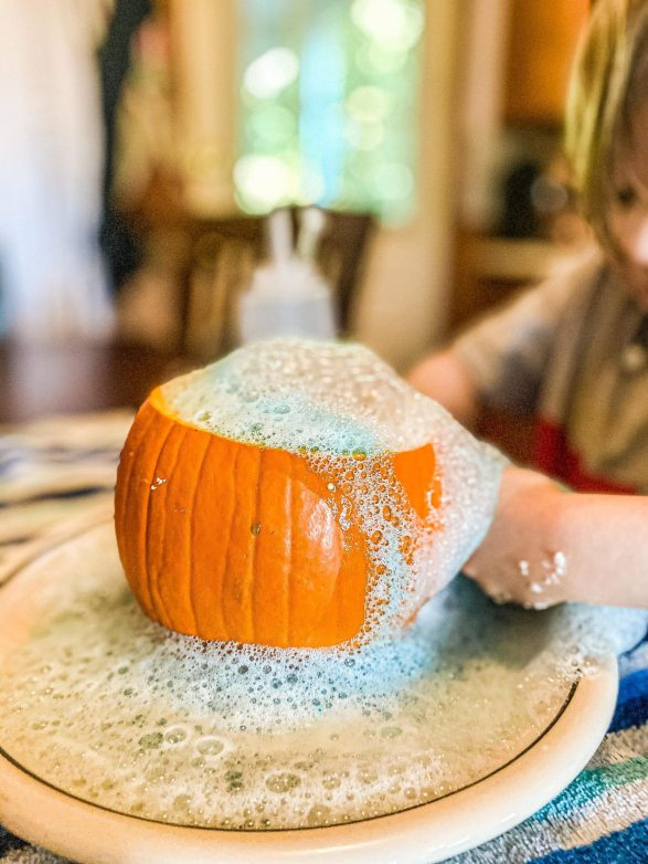 Pumpkin Volcano Science Experiment