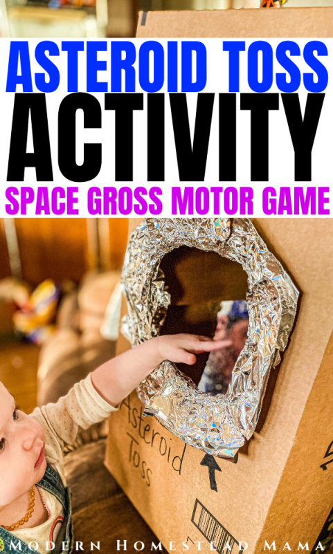 Asteroid Toss Activity for Toddlers & Preschoolers | Modern Homestead Mama