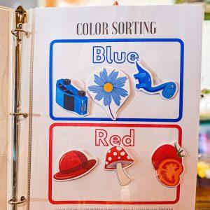 Color Sorting Worksheet Set for Toddlers Printable