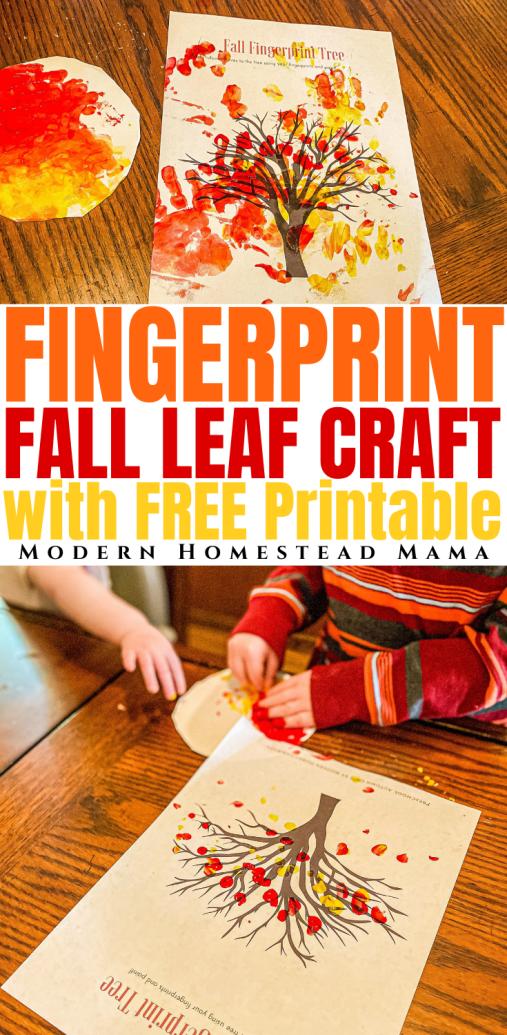 Fingerprint Fall Leaf Craft (with FREE Printable) | Modern Homestead Mama