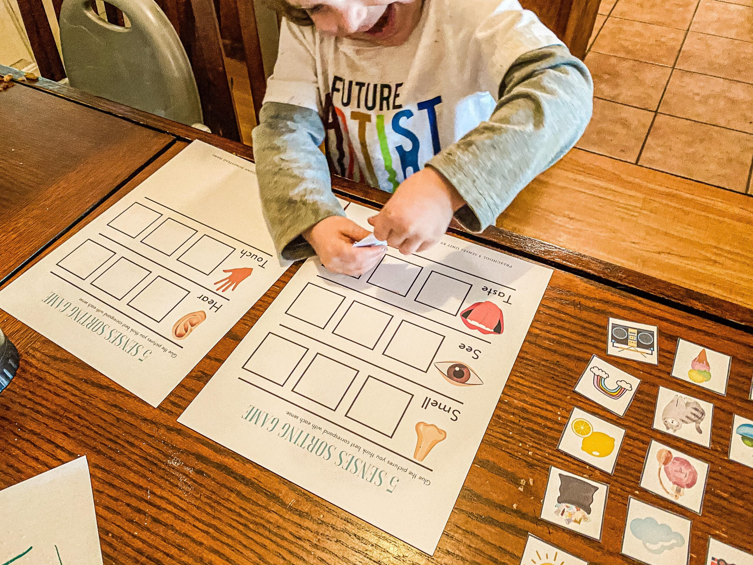 Five Senses Sorting Game Printable