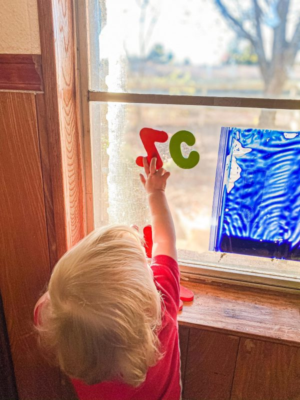 Foam Letter Window Play for Toddlers