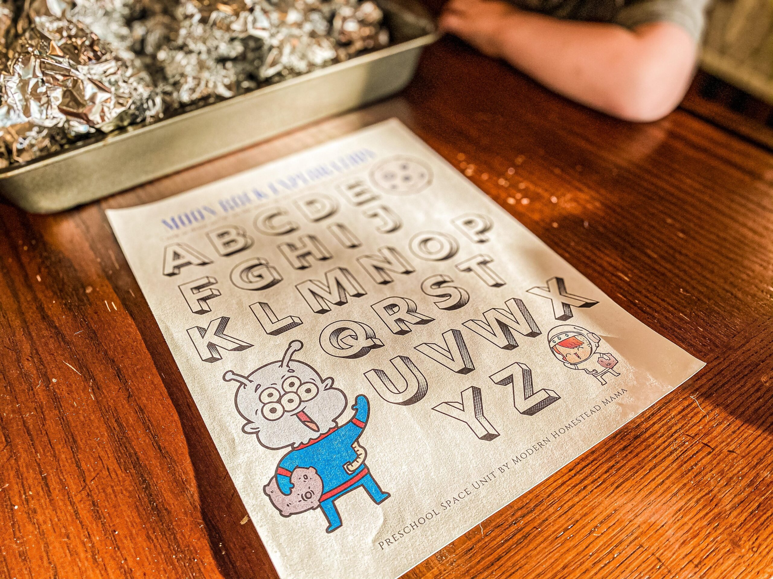 Moon Rock Exploration Space Activity (with Printable Worksheet)