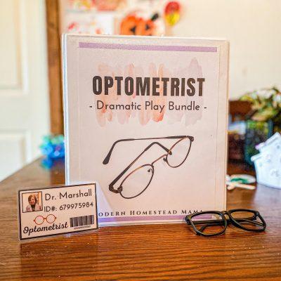Optometrist Dramatic Play Station for Kids