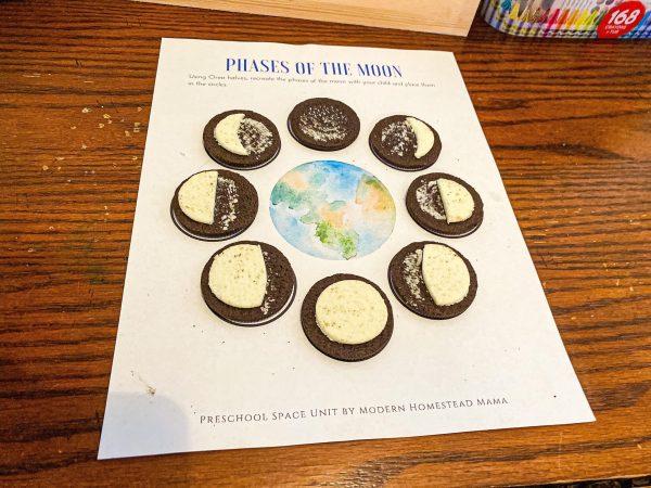 Moon Phases Oreo Worksheet