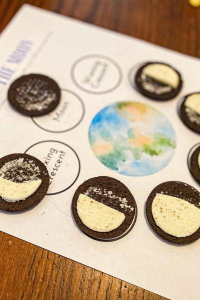 Moon Phases Oreo Worksheet for Preschoolers
