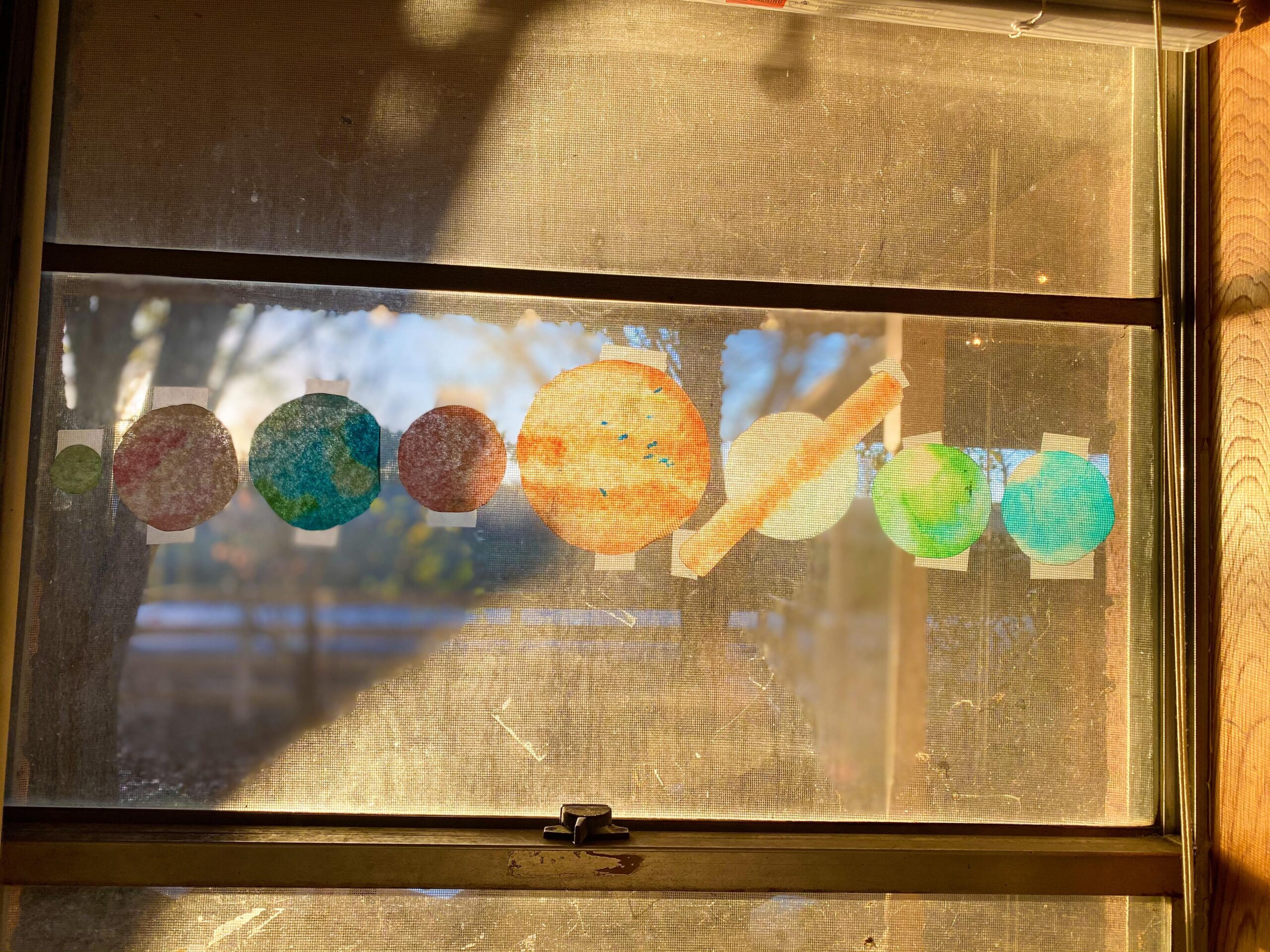 Planet Suncatchers Craft for Kids