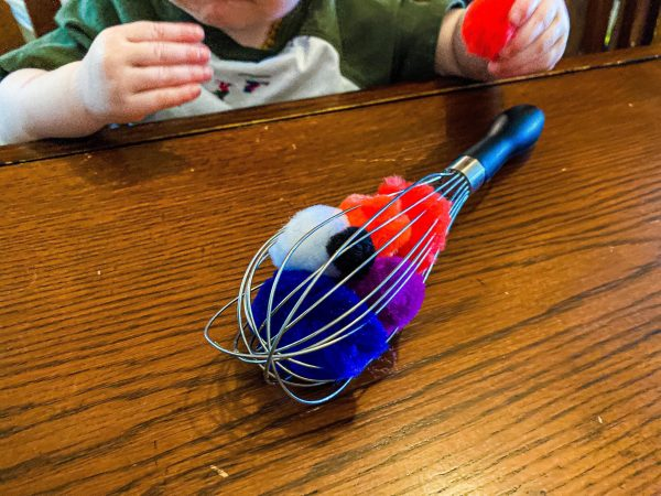 Pom-Pom Whisk Fine Motor Activity for Toddlers
