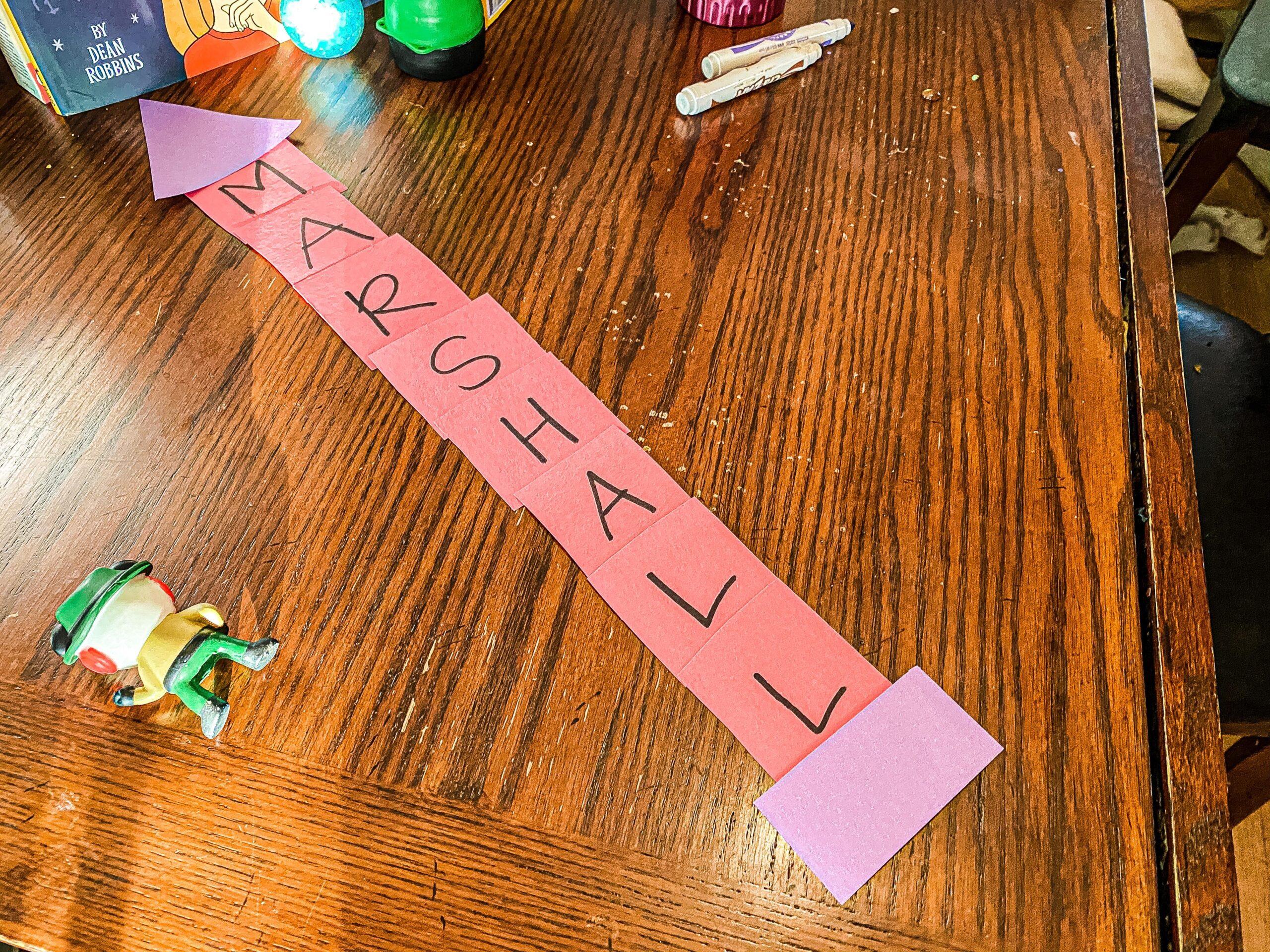 Rocket Name Building Activity for Preschoolers
