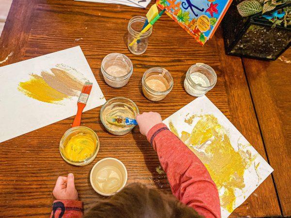 Sensory Spice Painting for 5 Senses Unit