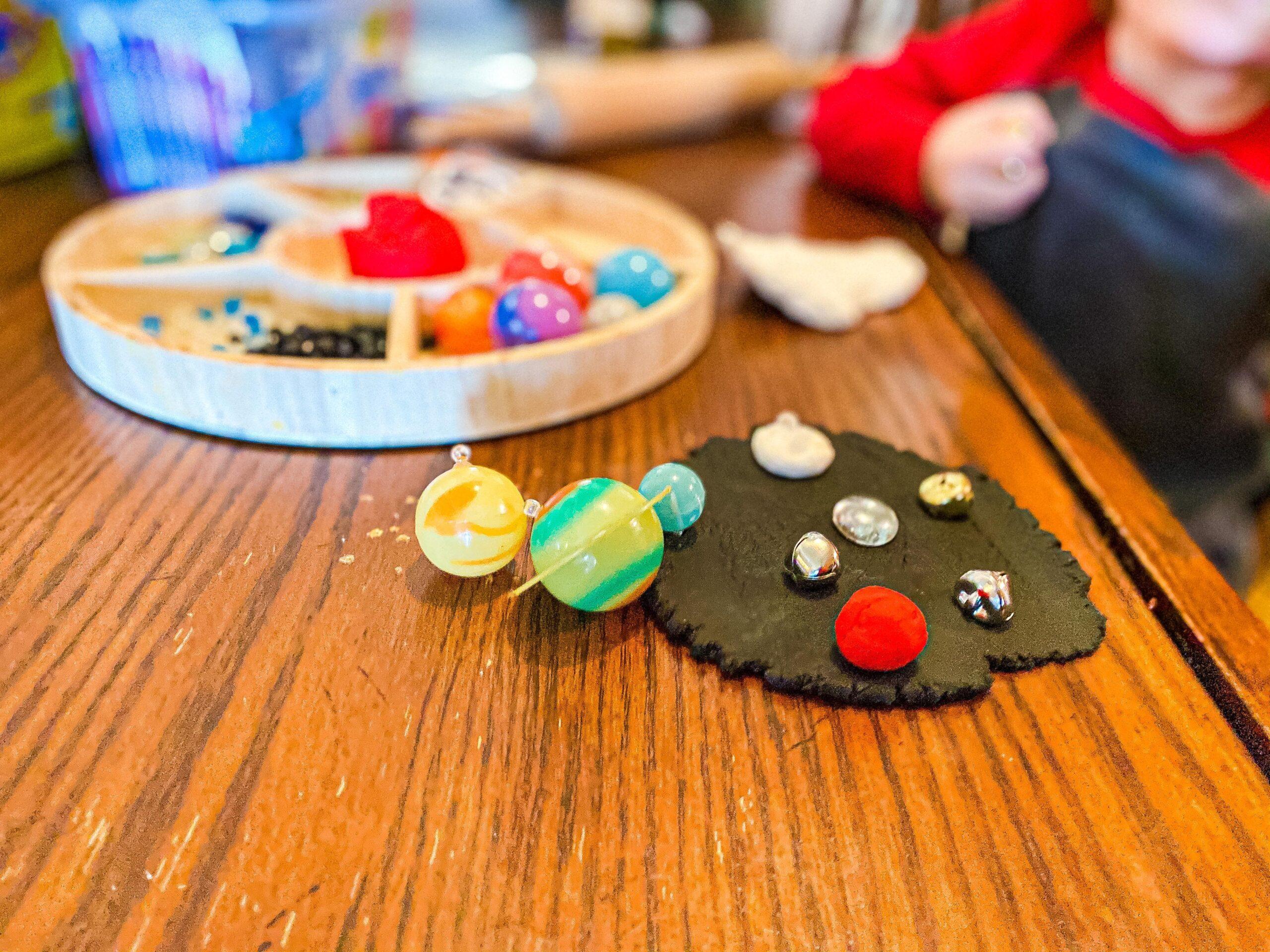 Space Playdough Invitation to Play Tray