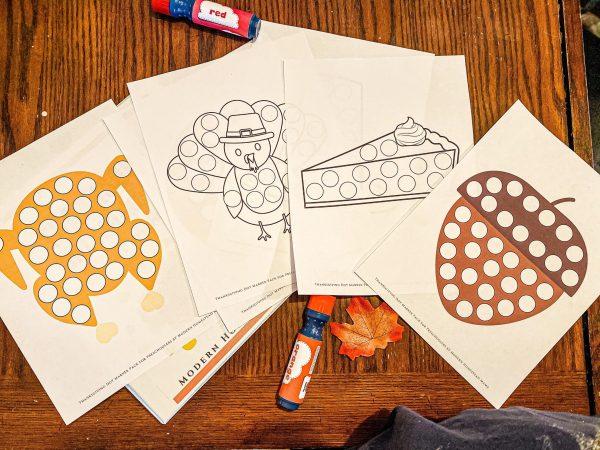 Thanksgiving Dot Marker Pack for Preschoolers