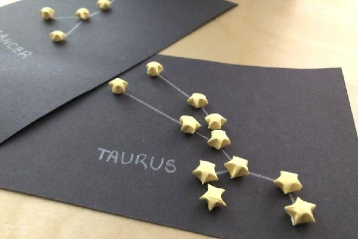 3D Origami Paper Star Zodiac Constellations