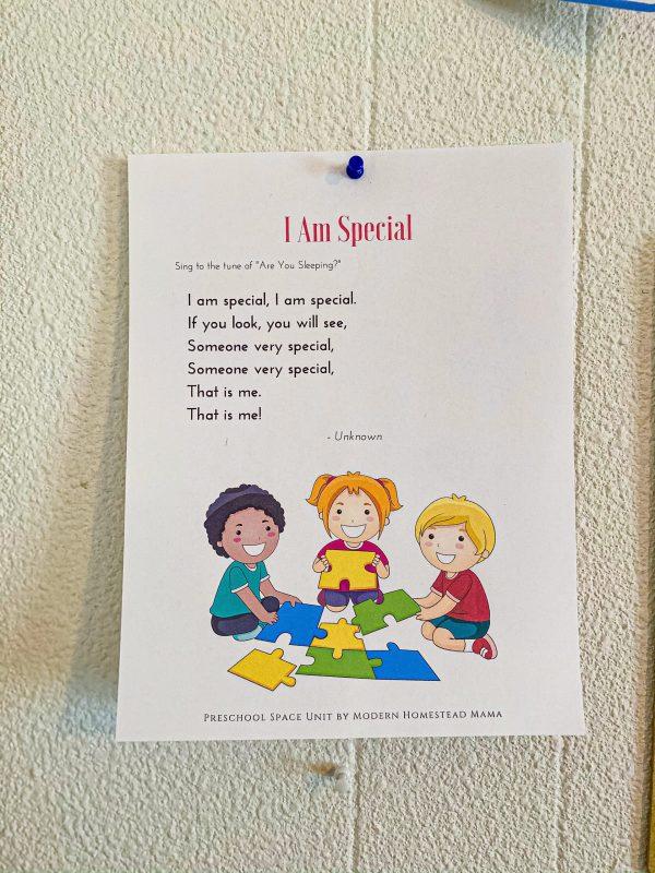 All About Me Preschool Unit
