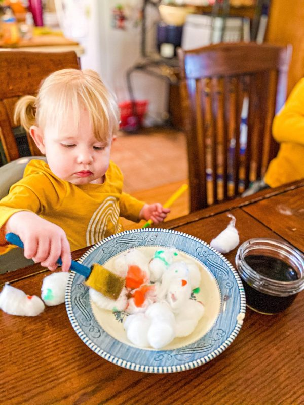 Paint the Snow Art Activity for Toddlers & Preschoolers