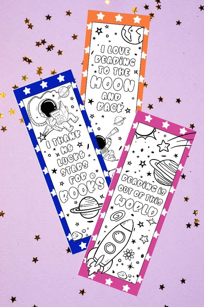 Printable Space Bookmarks