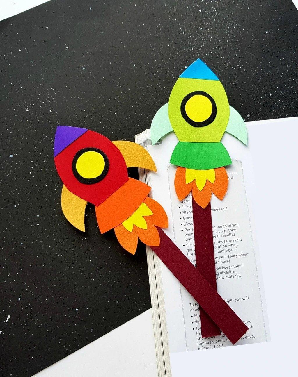 Rocket Bookmark Craft