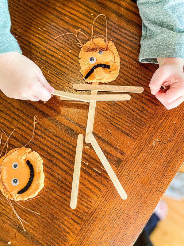 Self-Portrait Playdough Tray for Preschoolers