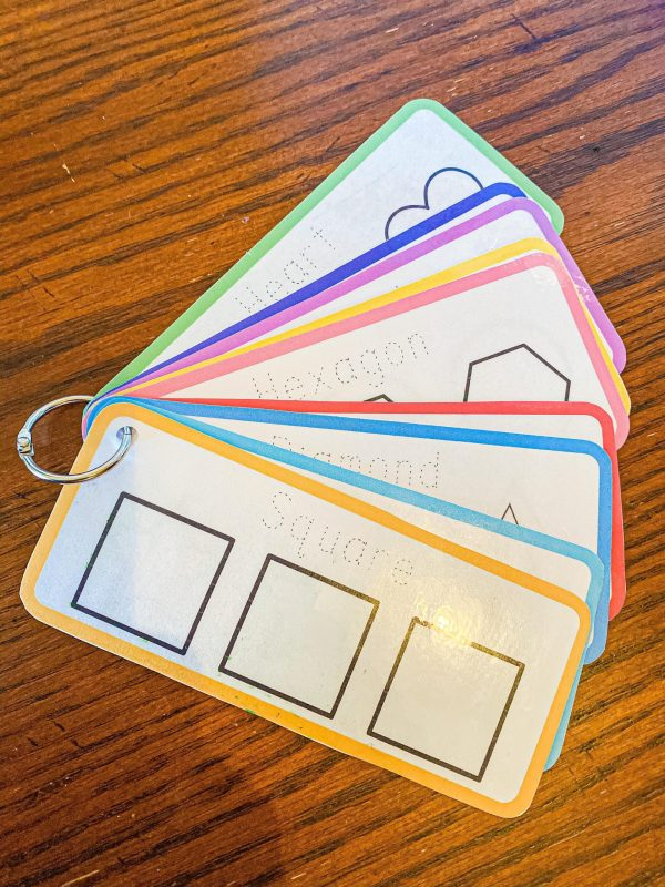 Shape Tracing Cards for Toddlers