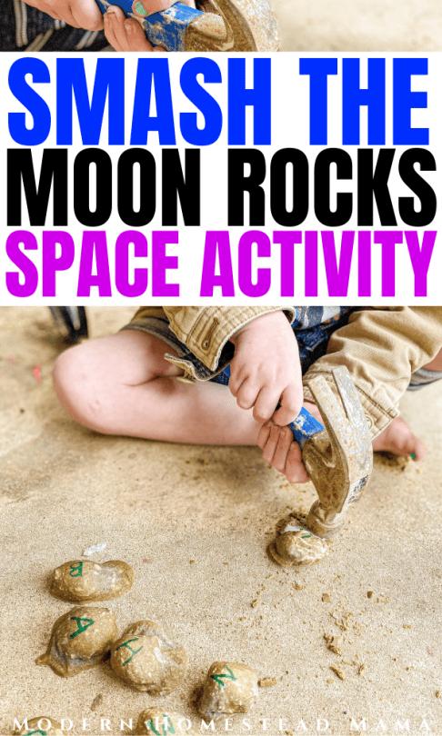 Smash the Moon Rocks Activity | Modern Homestead Mama
