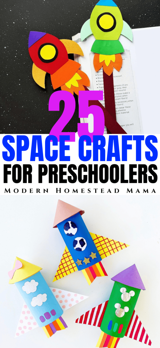 Space Crafts for Preschoolers | Modern Homestead Mama