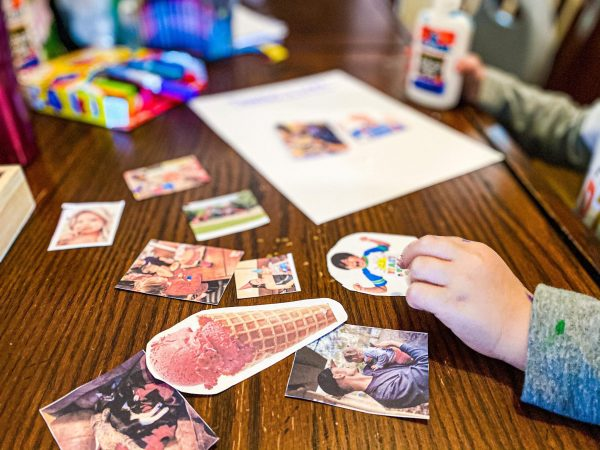 Things I Like Collage Craft - All About Me Preschool Theme