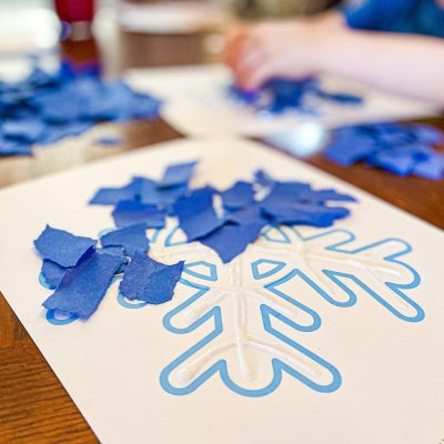 Torn Paper Snowflake Craft