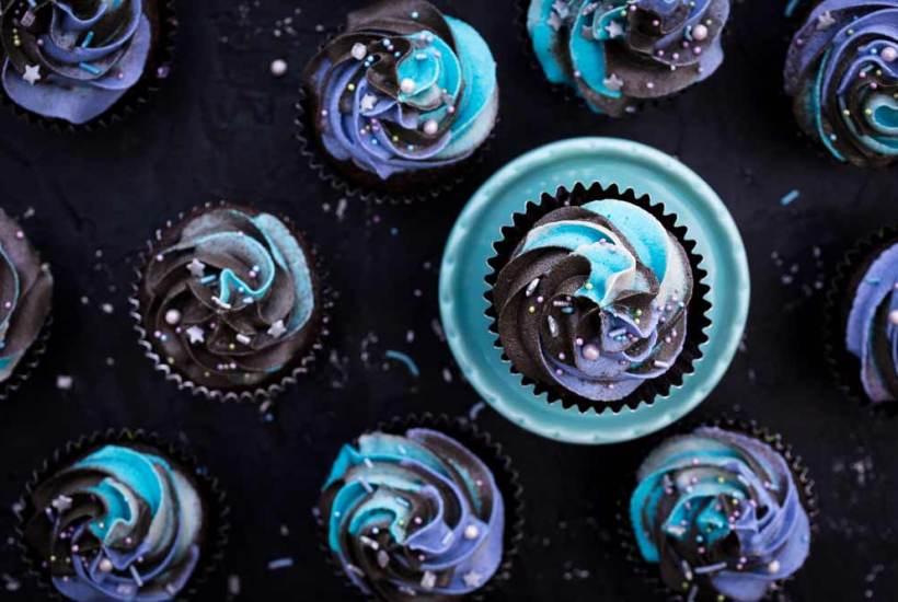 Vegan Milky Way Galaxy Cupcakes