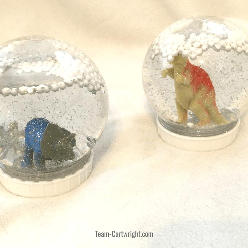 DIY Dinosaur Snow Globe Craft