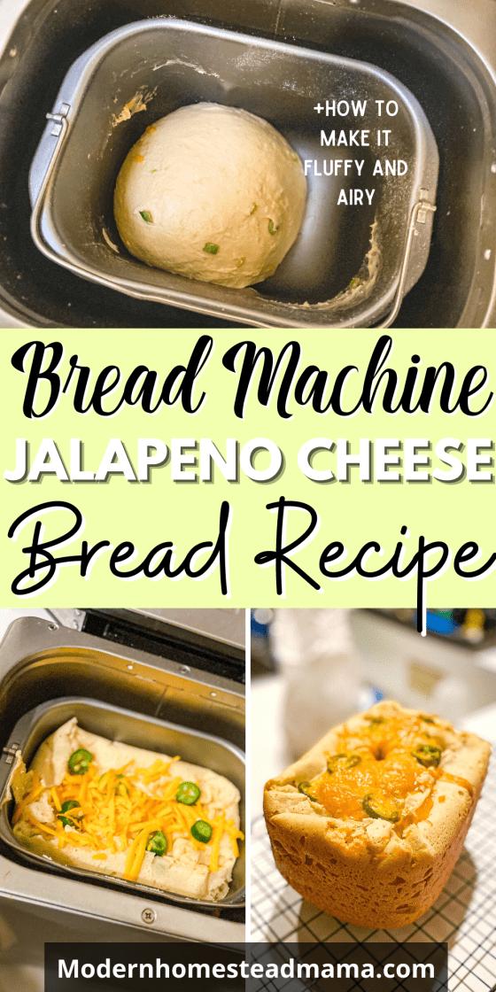 Jalapeno Cheese Bread Recipe in Bread Machine   Modern Homestead Mama