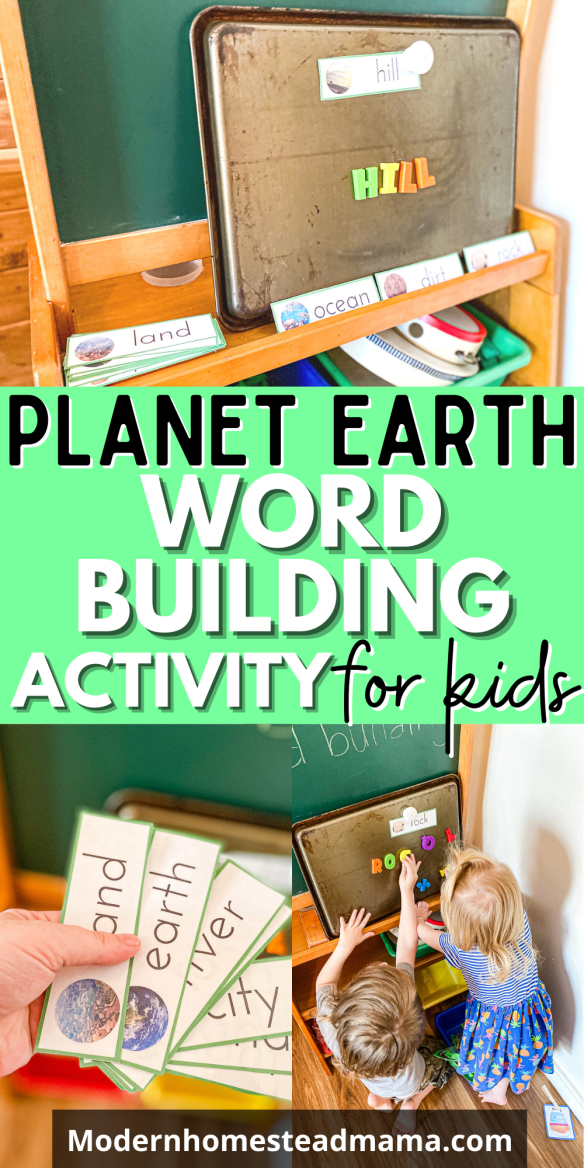 Planet Earth Word Building Activity + Printable Cards   Modern Homestead Mama