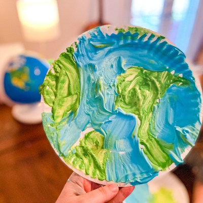 Puffy Paint Earth Craft for Kids