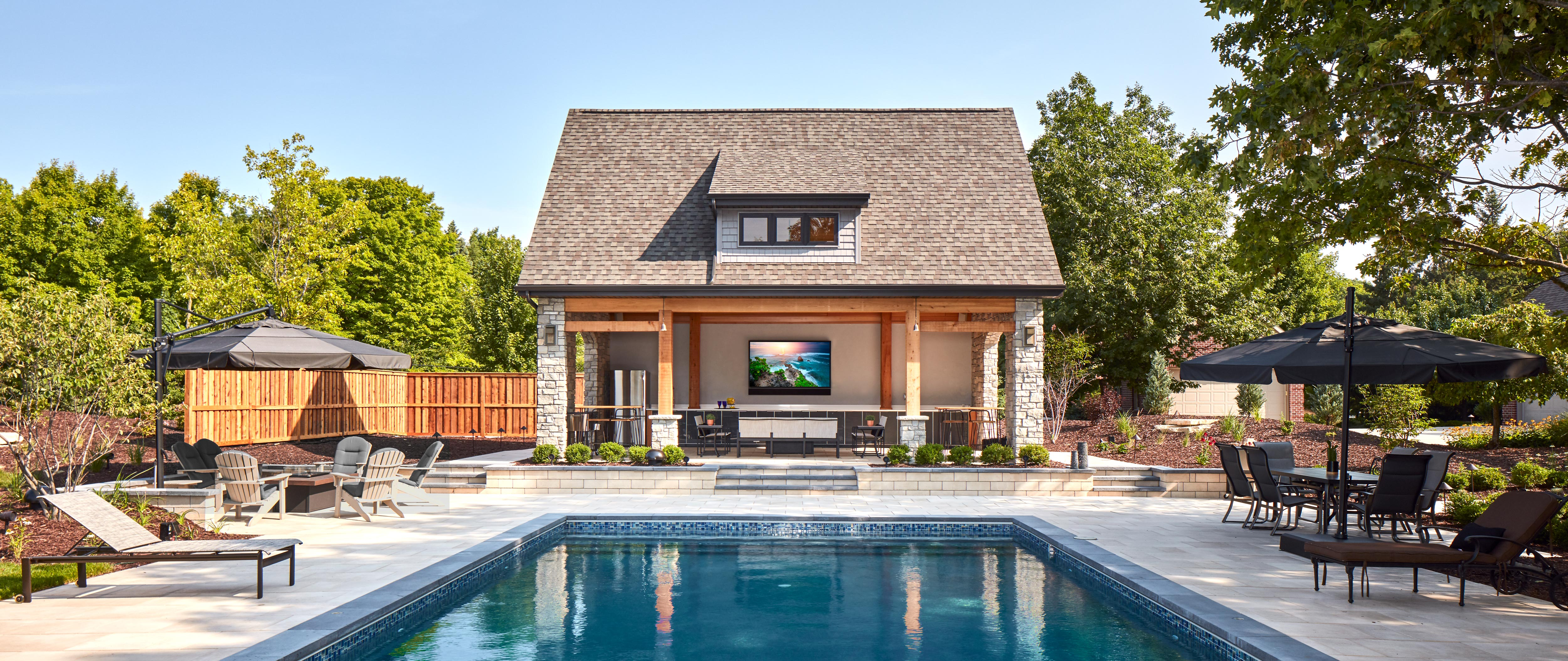 perfect outdoor entertainment space