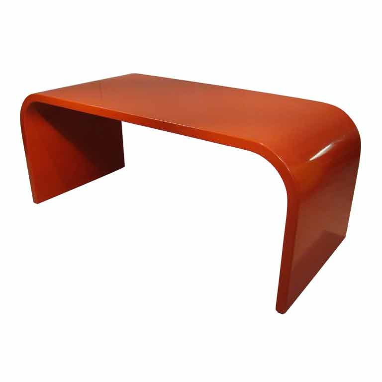Sixties Lacquered Desk Or Table Very Streamline Modern