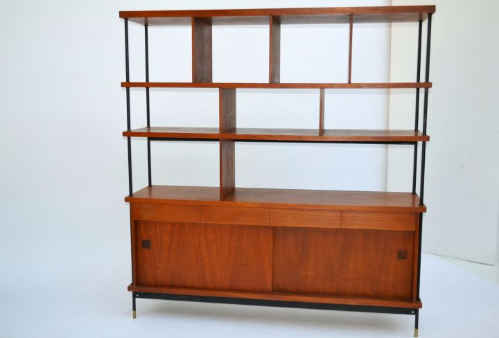Shelving Unit With Storage Italian Design Mid Century