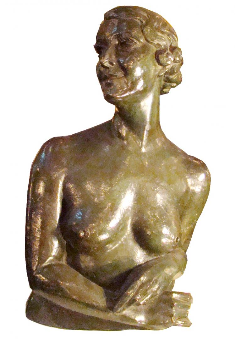 French Art Deco Bronze Sculpture Of Isadora Duncan Modernism