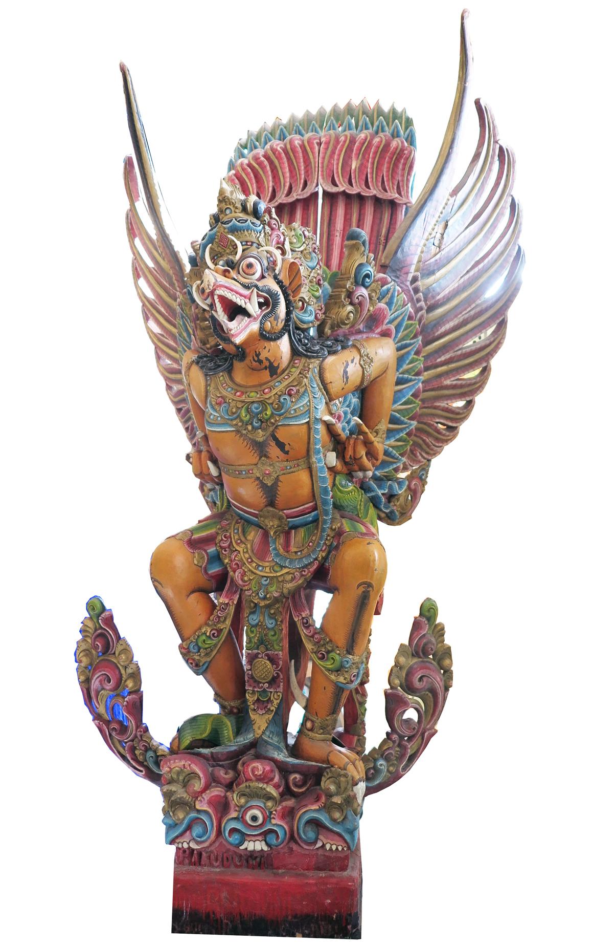 Amazing Carved Wooden Garuda Modernism