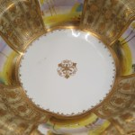 Hand Painted Nippon Bowl And Four Plates Modernism