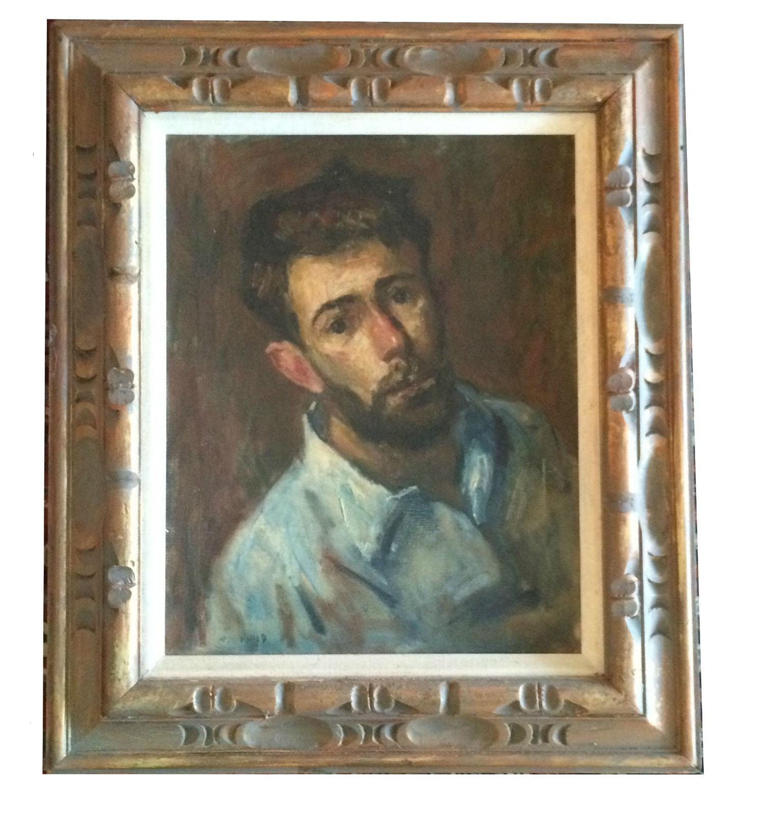 Thomas J Strickland Self Portrait Oil Impressionist