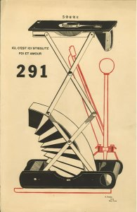 Francis Picabia, cover design, No. 5-6 (July-Aug. 1915).