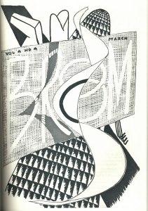 Man Ray, cover design. 4:4 (Mar. 1923).