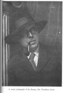 """A recent photo of the Enemy, Mr. Wyndham Lewis."" No. 3 (Mar. 1929): v."