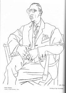 Pablo Picasso, Drawing of Igor Strawinsky. 1:1 (Nov. 1921): 22