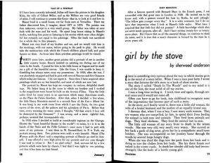 "Sherwood Anderson, ""Girl by the Stove."" 1:1 (Jan. 1941): 18-19."