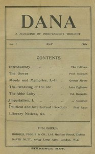 Cover and table of contents, 1:1 (May 1904).