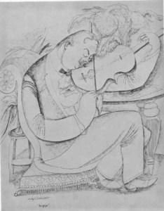 Adolf Dehn, The Violinist. Vol. 77 (Aug. 1924): 148, insert.