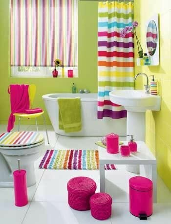 Follow The Rainbow To Bath Time With This Fantastic Kids Bathroom All Bright Fun Colors Radiate Happiness Just A Few Accessories In Your