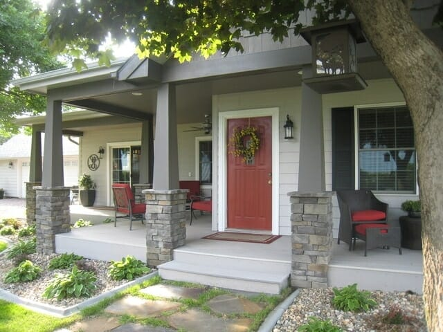 creating an inviting front porch