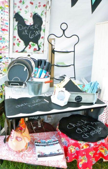 chalk cloth modern june booth